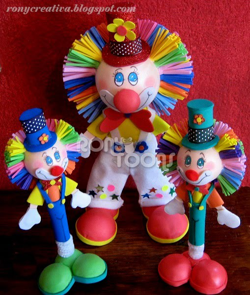 ronycreativa: PAYASO DE FOMI