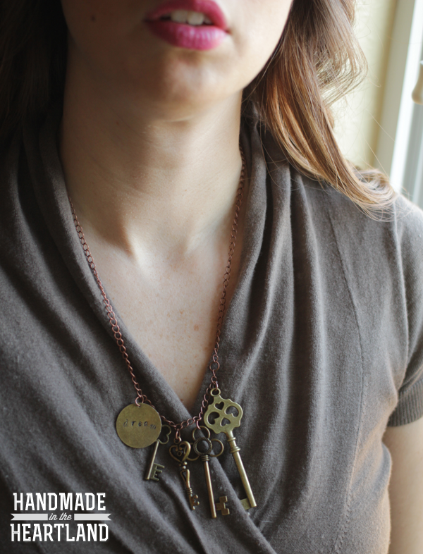 DIY Stamped Pendant & Key Charm Necklace