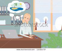 trabalhadora sonhando