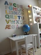 Slik lager du et veggalfabet til barnerommet