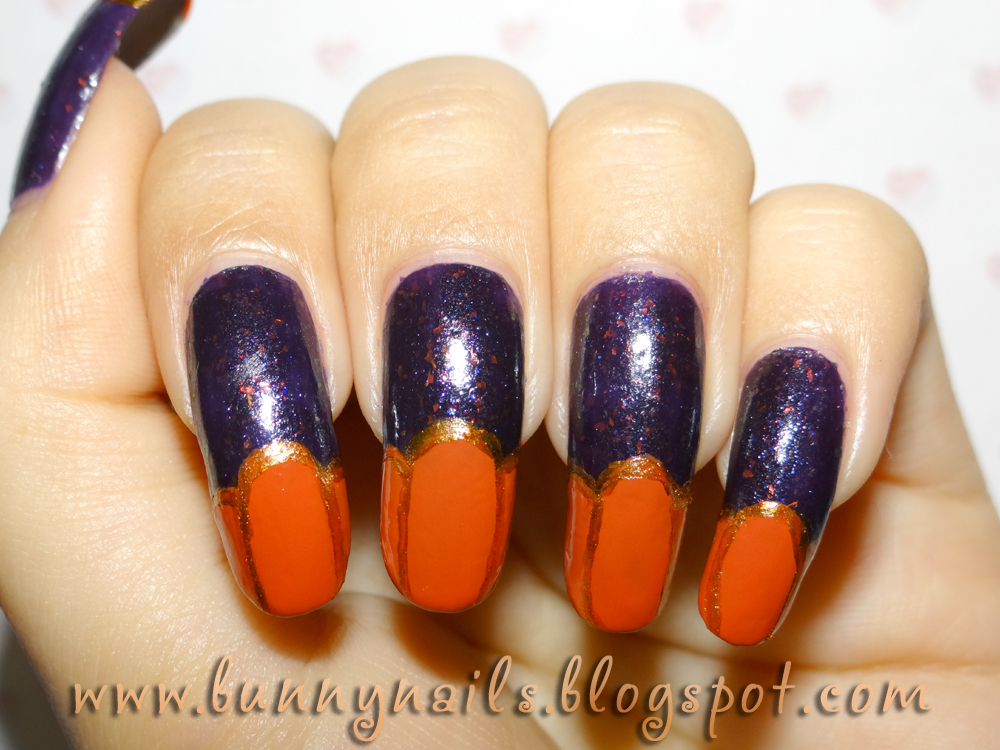 Halloween Pumpkin Nail Art and Tutorial