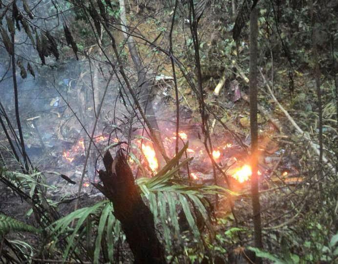 Penduduk kampung lihat helikopter meletup di udara