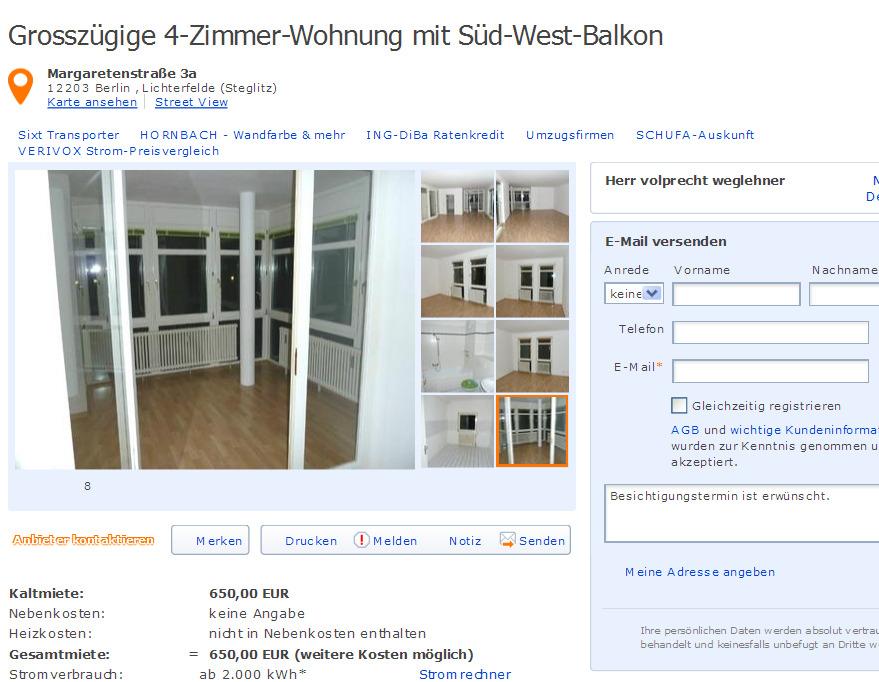 Grossz gige 4 zimmer wohnung for 4 zimmer wohnung ludwigshafen