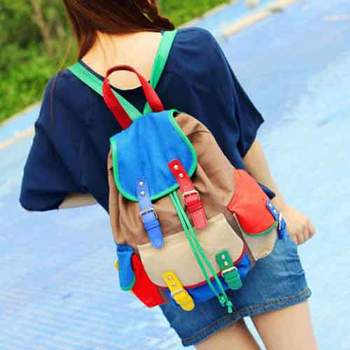 Multi Color Fashion Racksacks For Girls