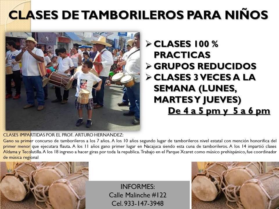 CLASE DE TAMBORILEROS PARA NIÑOS