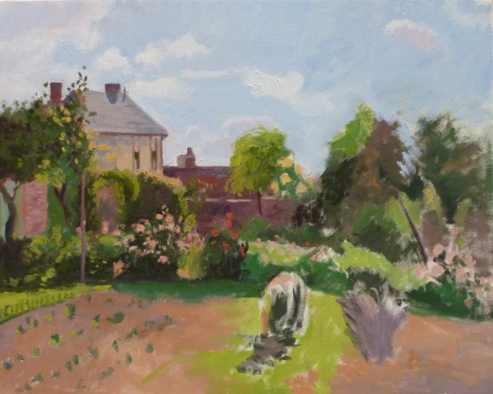 Copying At The National Gallery The Artist 39 S Garden At Eragny By Camille Pissarro Day 2