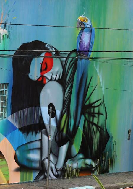 New StreetArt Collaboration By Fin DAC, Angelina Christina and Nove DigitalOrganico in Vila Madalena, Sao Paulo  2