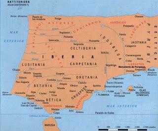 mapa España prerromana