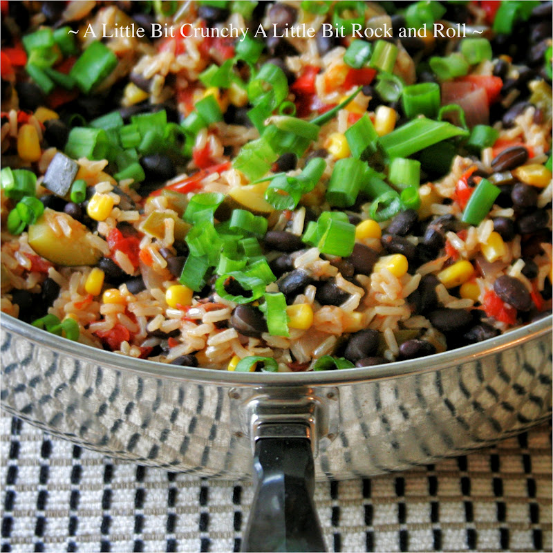 ... Little Bit Rock and Roll: Easy Black Beans and Rice Veggie Skillet