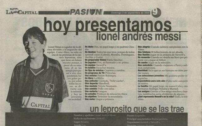 ¡Entrevista a Lionel Messi cuando tenía 13 años!
