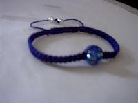 rhinestone blue 12mm bracelets