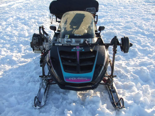 Snowmobile Auger Rack6