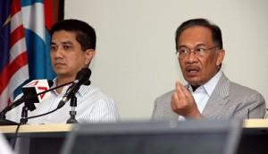 Datuk Seri Anwar Ibrahim dan Azmin Ali