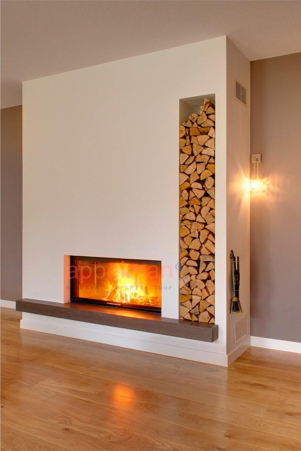 Leuke Woonkamer Ideen : Openhaard woonkamer living room with fireplace ...