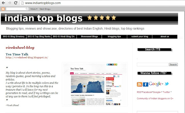 ea Time Talk - A Blog by Viveksheel showcased on Indian Top Blogs
