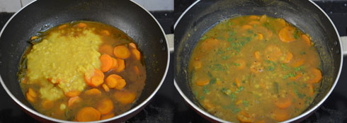 how to make carrot sambar