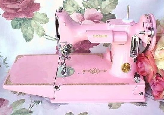 Time Traveling In Costume New Addition To The Family A Singer Delectable Featherlite Sewing Machine Pink