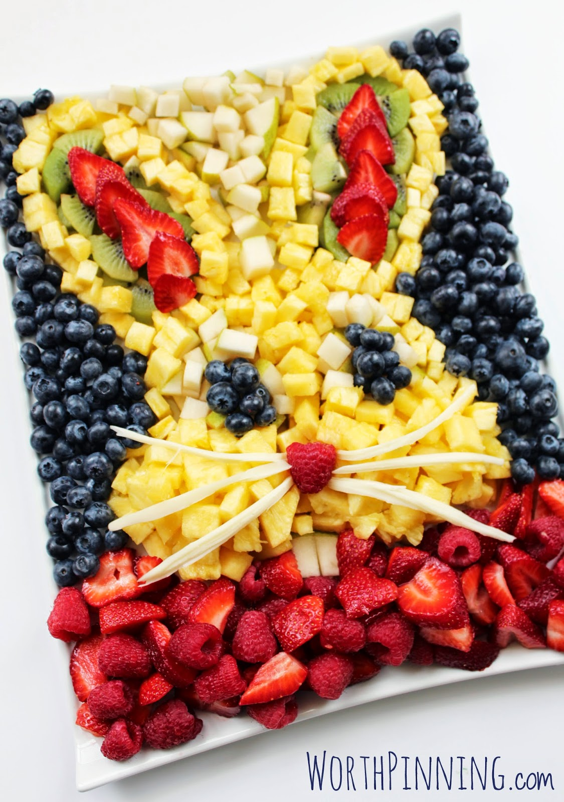 Bunny Head Fresh Fruit Platter