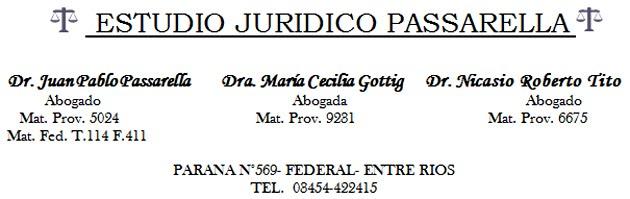 Dr JUAN PABLO PASSARELLA 03454 15430659