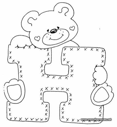 Abecedario letras de osos - Imagui