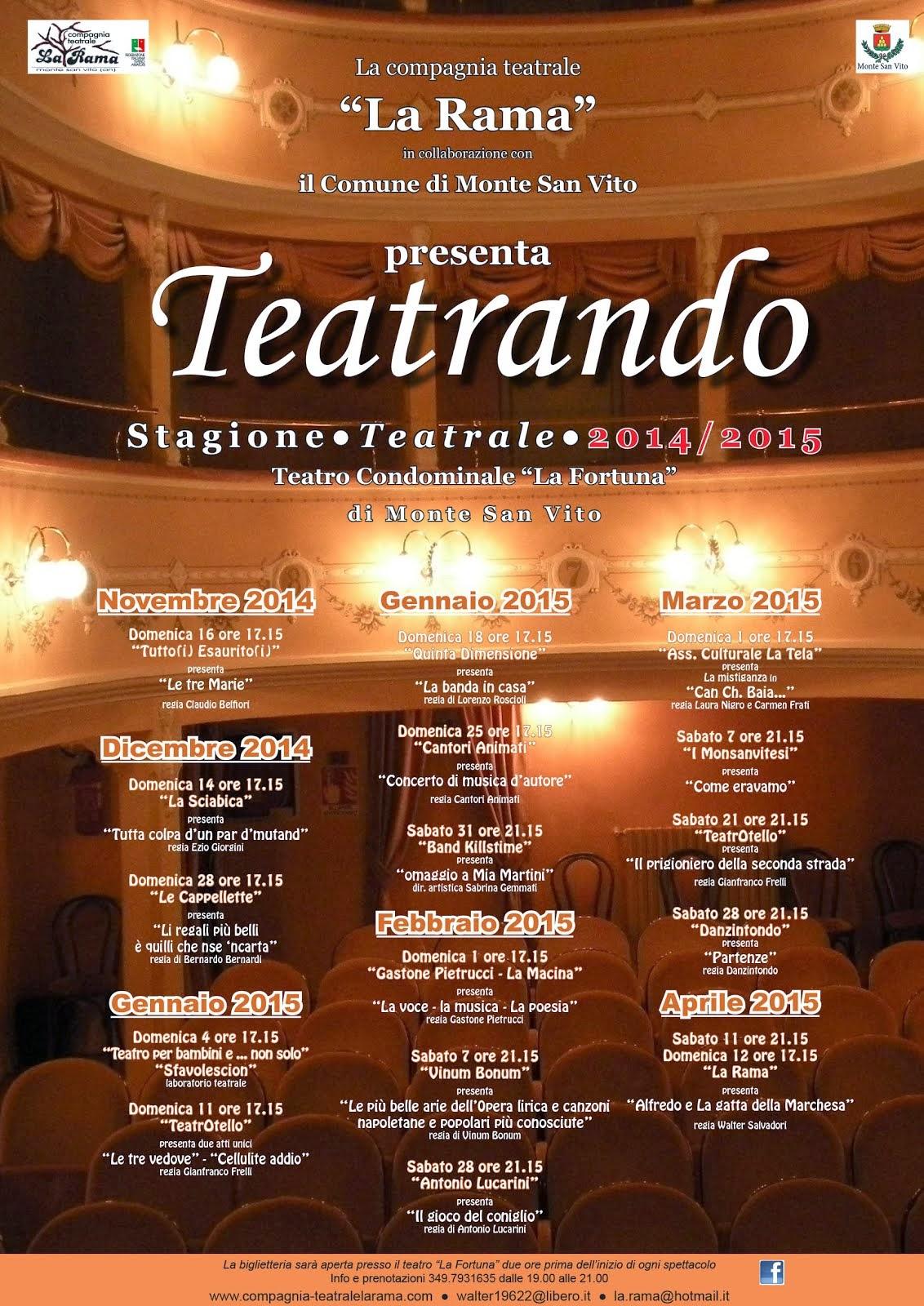 STAGIONE TEATRANDO 2014 - 2015