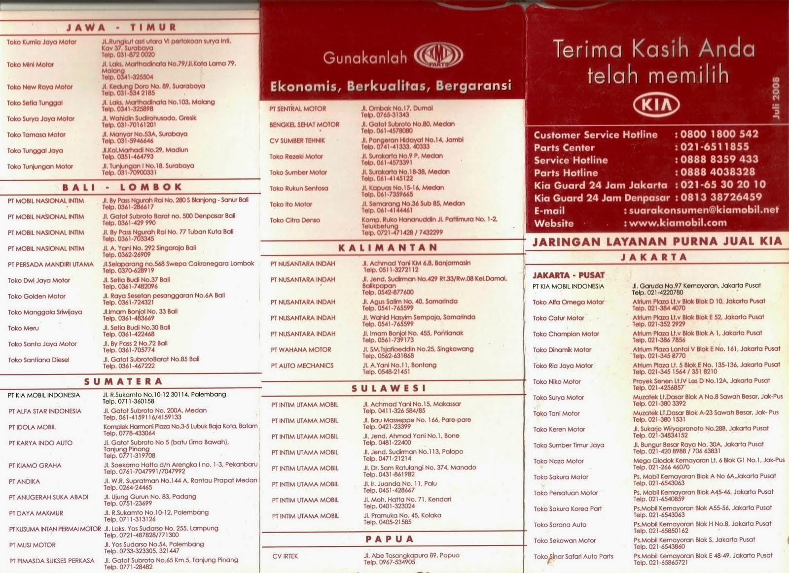 Daftar Alamat Bengkel KIA Surabaya