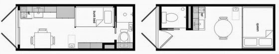 Drawings of House made of container 001