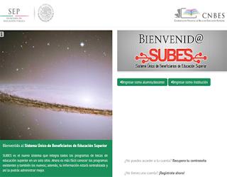 Registro solicitud Becas Subes PRONABES 2013 2014 Programa de Becas para Educación Superior