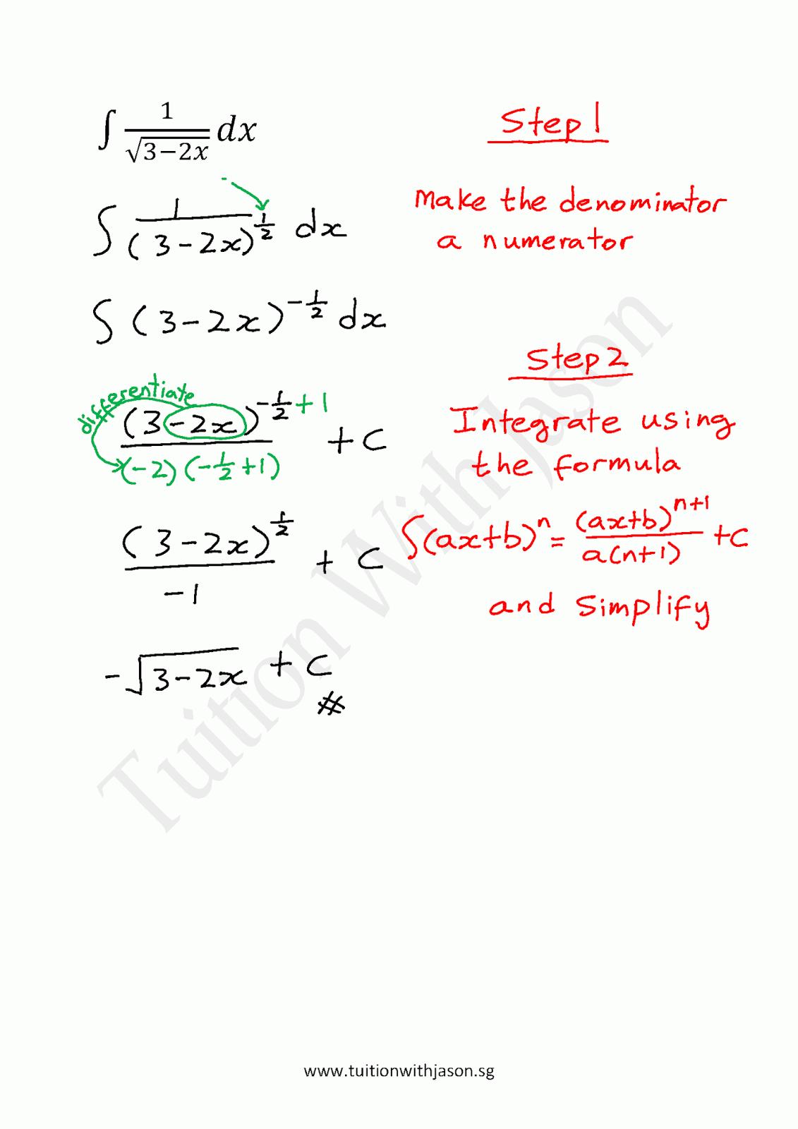 A-Math - Integration - Indefinite Integral (1) | Singapore ...