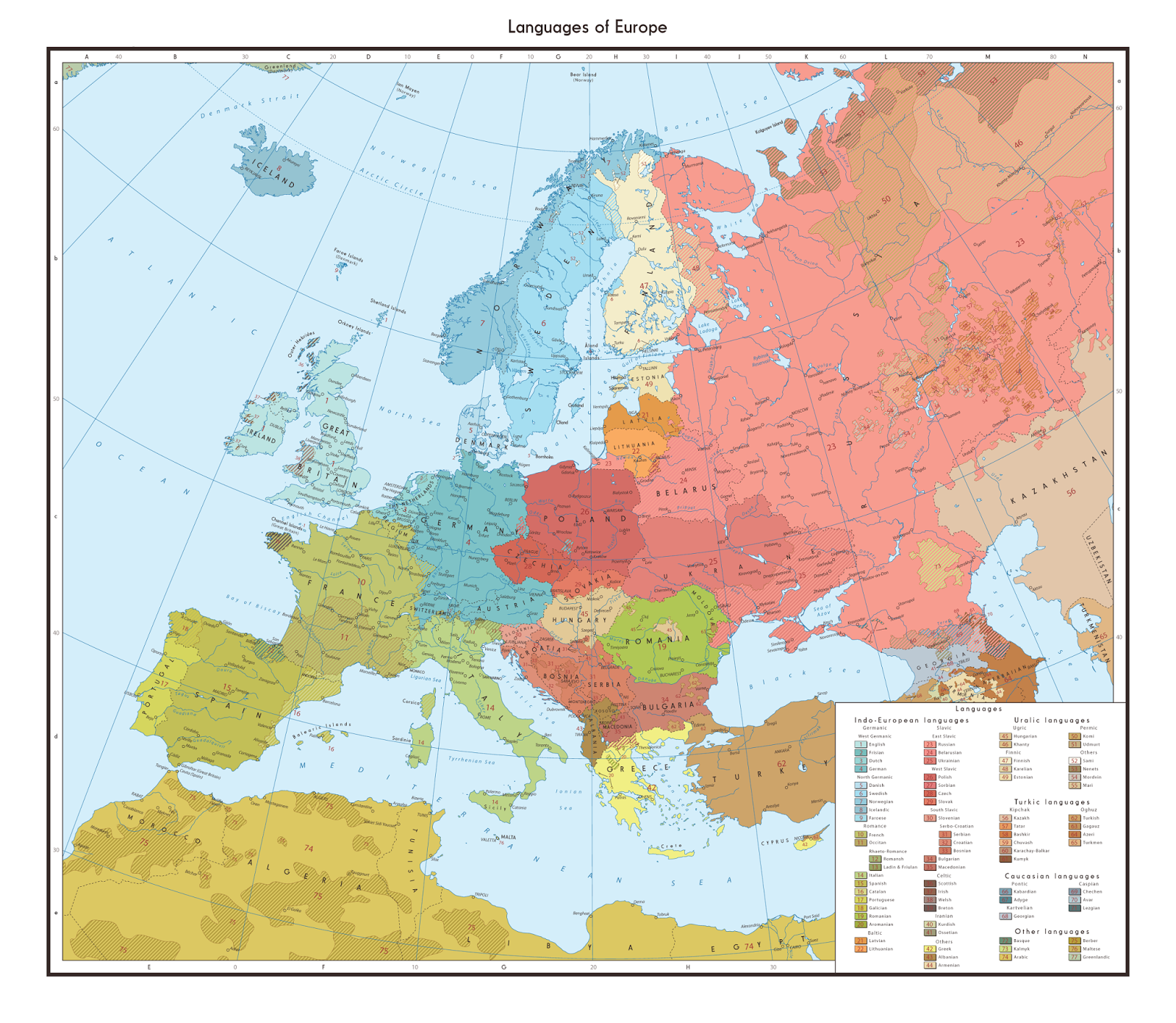 INDO EUROPEAN LANGUAGES MAP
