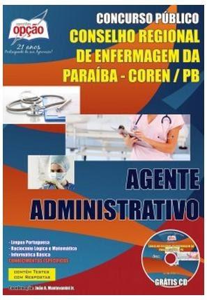 Apostila Concurso Coren da Paraíba 2014 cargo Agente Administrativo.