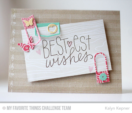 Bestest Wishes Card by Kalyn Kepner featuing the Birthday Wishes & Balloons stamp set and the Laina Lamb Designs Hip Clips Die-namics #mftstamps