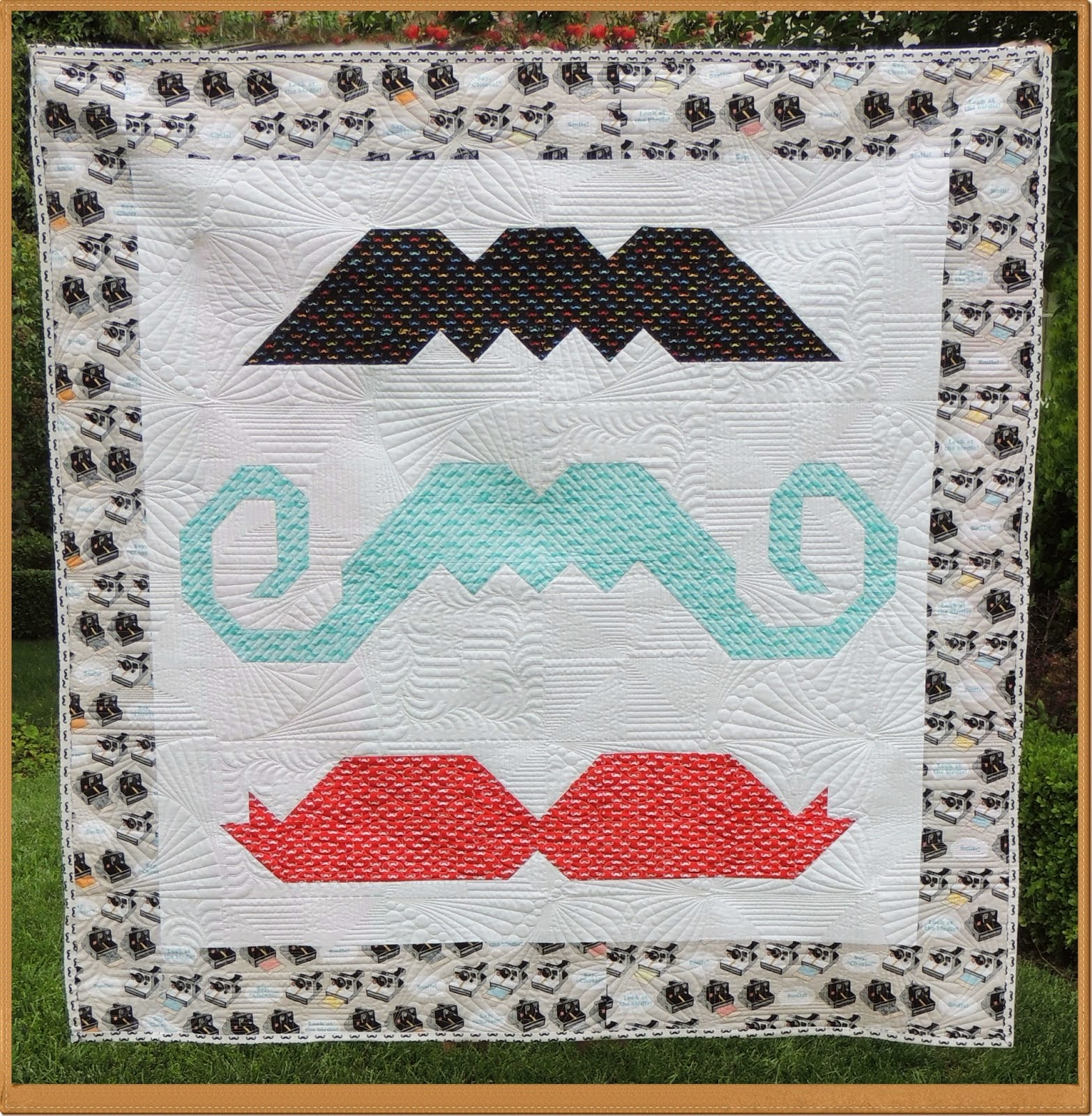 mustache quilt