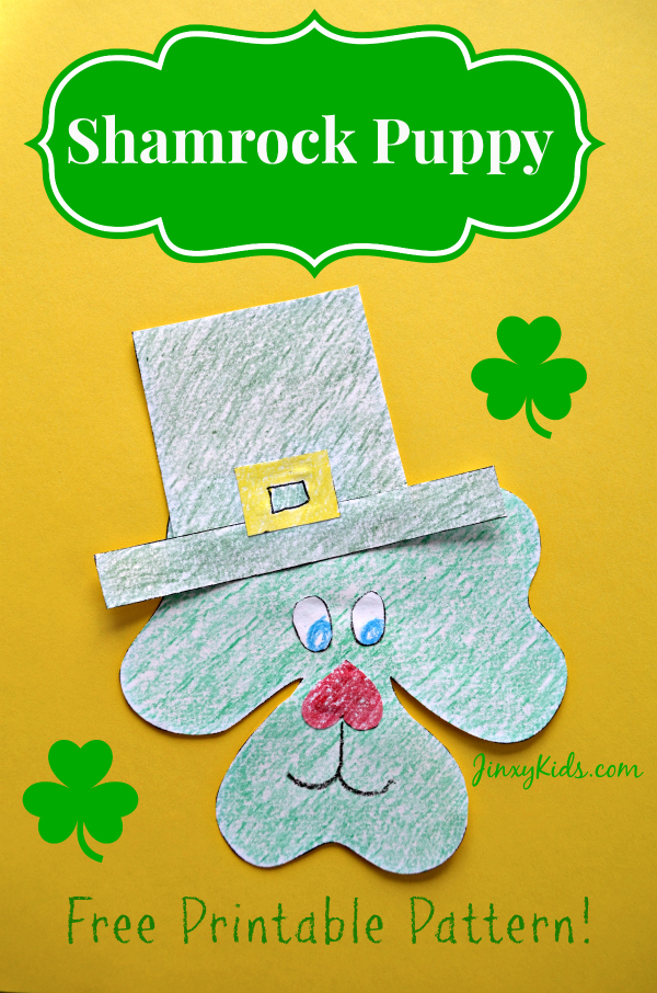 http://www.freehomeschooldeals.com/st-patricks-day-craft-free-shamrock-puppy-activitiy/