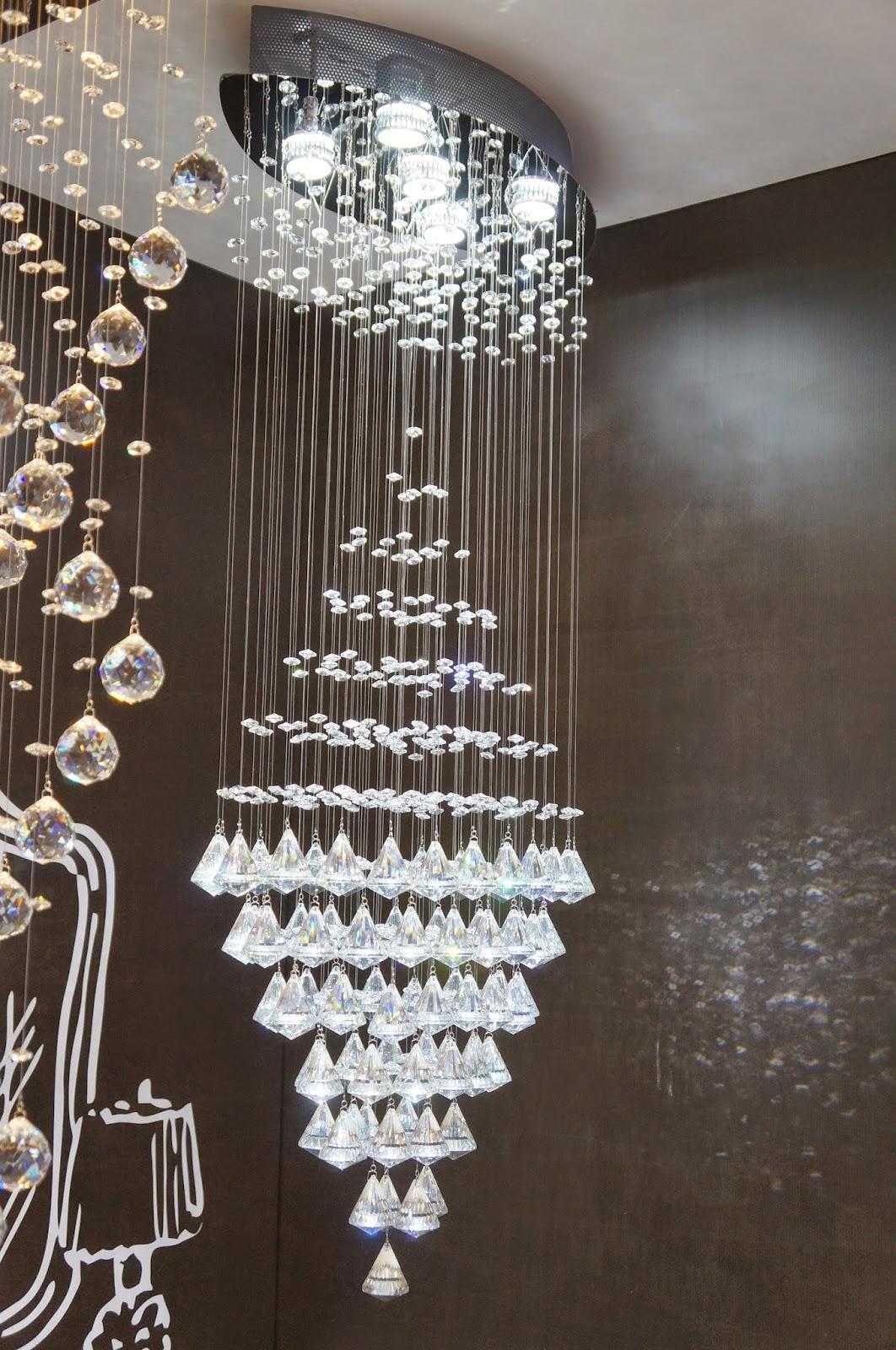 "pendente de cristal ""Milão"" - Kin Company - Expolux 2014"