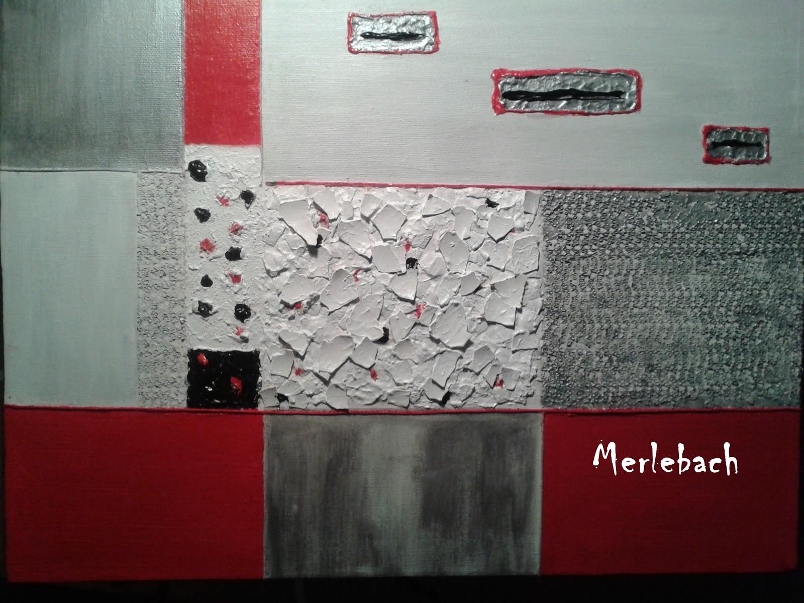 Arte con merlebach cuadros abstractos en acr lico con - Cuadros con texturas abstractos ...