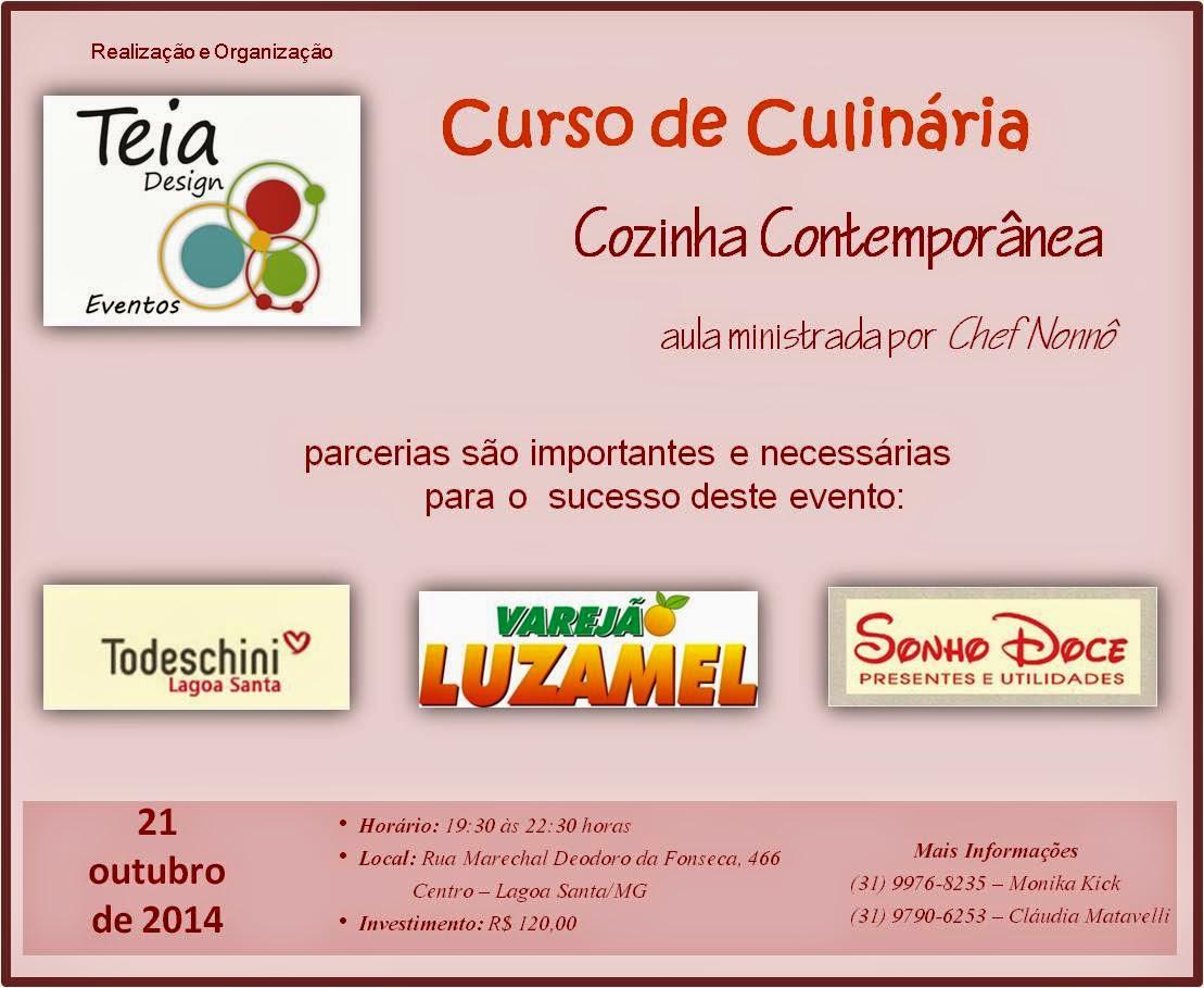 de Culinária Cozinha Contemporânea em Lagoa Santa/MG Teia Design  #BB2E10 1109 909