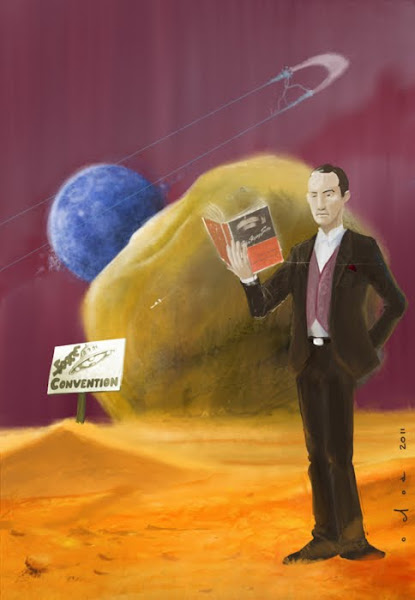 Juan Ochoa offers his vision of Meade Layne drifting far, far out into the Etheric realms of the high Mojave, standing in sight of the Giant Rock, as he reviews an old edition of Mr. George Van Tassel's 'I Rode a Flying Saucer'.