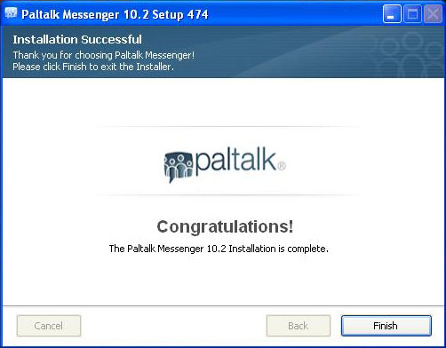Paltalk Live Chat Install Finish