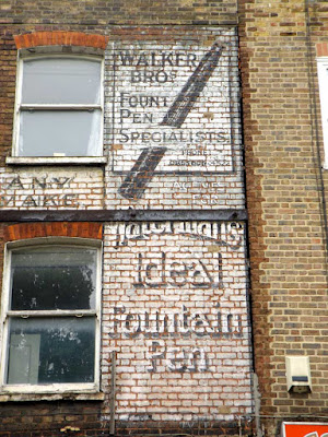 walkers bros fountain pen repairs ghost sign stoke newington