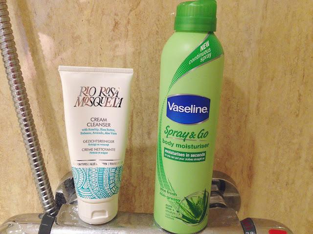 rio rosa mosquito cream cleanser vaseline spray and go moisturiser aloe fresh