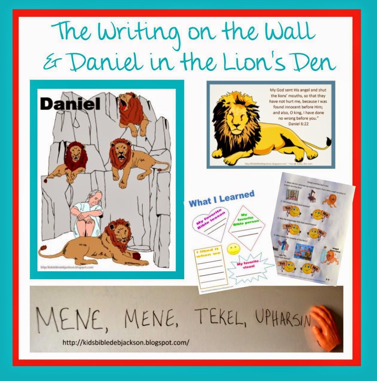 http://kidsbibledebjackson.blogspot.com/2014/05/daniel-writing-on-wall-lions-den.html