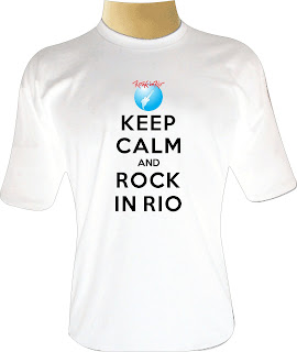 Camiseta Keep Calm and Rock in Rio