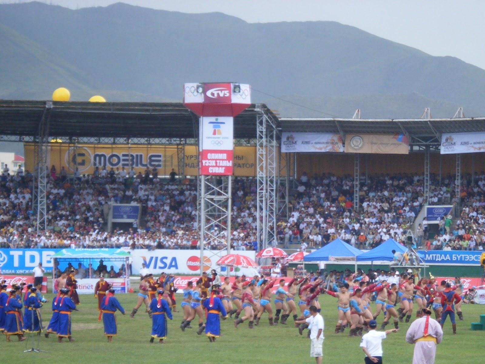 Naadam festival in Ulaanbaatar at the National Sports Stadium