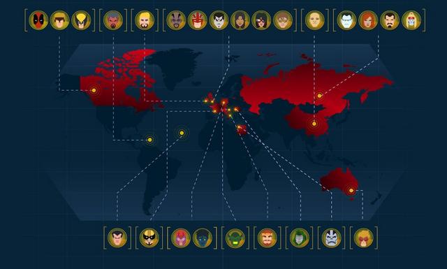 Marvel Mapping: De donde son originarios los personajes de Marvel?