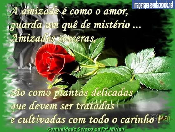 para facebook amizade - a amizade é como o amor | TOP Imagens para ...