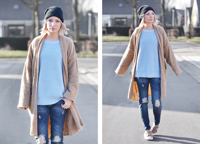 Wearing primark jeans, primark baby blue, ligth blue, jumper, winter outfit, 2015, street style