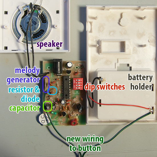 modified wireless doorbell