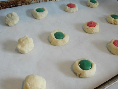 dough on cookie sheet