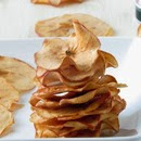 Crispy apple chips with cinnamon